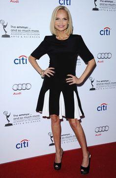 Kristen Chenoweth / Black and White Dress