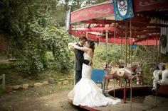 Bride and groom - carousel Calamigos Ranch Wedding. Michael Segal Photography. #weddings #calamigosranch #calamigosranchwedding #calamigos #malibu #carousel #michaelsegal #michaesegalphotography #michaelsegalweddings