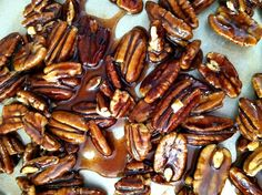 Candied Pecans -- Been looking for this recipe to add to my make-at-home Wendy's apple/pecan salad!
