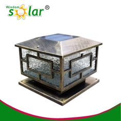 Water Grain Solar Post Lanterns Patio Lights Pillar Ce Ip66 Rohs 0 78