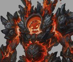 The Lava King, xingxing zhou on ArtStation at https://www.artstation.com/artwork/the-lava-king