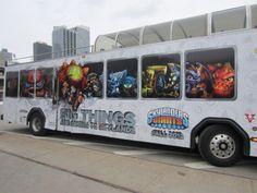 """Skylanders Giants """"coming Fall 2012"""" (bus ad)"""