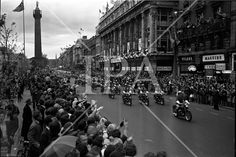 Cavalcade of President John F. Kennedy makes its way through Dublin, cheered on by thousands of spectators. See more photos like this at www. Dublin City, John F Kennedy, History Photos, Photo Archive, Jfk, More Photos, Presidents, Ireland, Dolores Park
