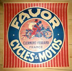 AFFICHE-CYCLE-FAVOR-ET-MOTO-CLERMONT-FERRAND-AUVERGNE