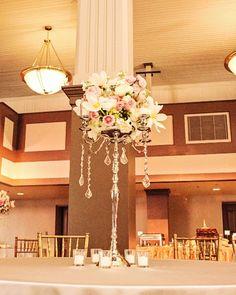 candelabra centerpiece meridian ms wedding florist Mississippi wedding florist