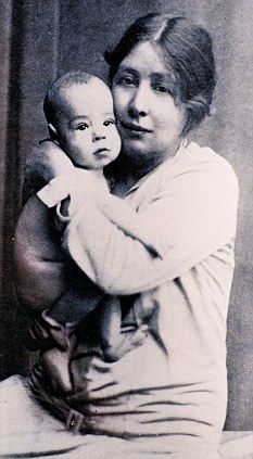 Sylvia Pankhurst with her son Richard.  Political agitation was Emmeline's real…