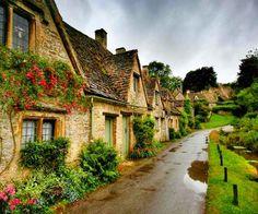Bibury in Gloucestershire, England.