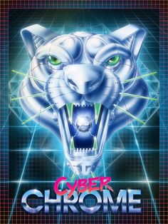 Cyber Panther Poster by Etienne Chaize, via Behance New Retro Wave, Retro Waves, 80s Neon, Graph Design, Airbrush Art, Typography Logo, Logos, Sci Fi Art, Retro Design