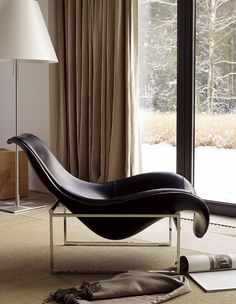 Mart, design Antonio Citterio B Italia. Love the contrast of soft wavy organic leather against a boxy chrome frame.