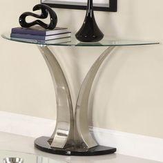 Half Round Glass Sofa Table