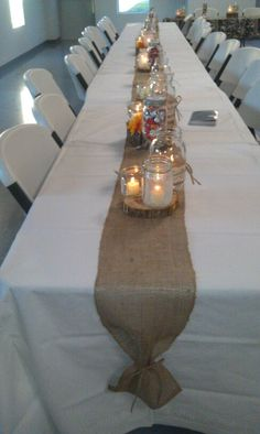 Center Pieces For The Rehersal Dinner · Rehearsal Dinner DecorationsRustic  Table ...
