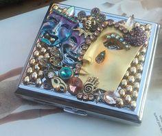 Gypsy Cigarette Case/ID WalletMardi Gras by TheBohemianGypsy, $49.00