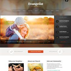 Evangelist Responsive Church WordPress Theme | WordPress Theme Download