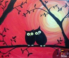 Owl Love Sunset