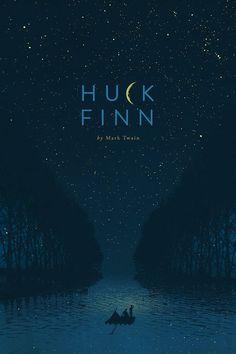 b o o k s Huck Finn Book cover design. Best Book Covers, Beautiful Book Covers, Book Cover Art, Book Art, Design Poster, Book Design, Web Design, Plakat Design, Culture Pop