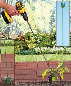 Rid your garden of weeds quickly and easily with the Trident Roto Weeder. It attaches to your handheld power drill to make turning easier. Just position the 3-p