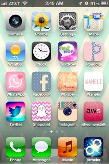 How to customize Phone's apps cute! Best thing on Pinterest that I have found recently!! My iPhone is now cute!!