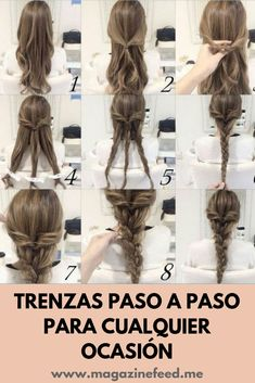 56 Quick and Easy Hairstyles (Step-by-step) Bride Hairstyles, Easy Hairstyles, Wedge Hairstyles, Bridesmaid Hair, Prom Hair, Easy Updos For Long Hair, Braids Step By Step, Fall Hair, Hair Trends
