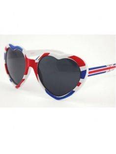 Union Jack Novelty Heart Sunglasses For 2012 Olympic Games and Queen's Jubilee. Only £5.95 FREE UK Shipping