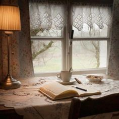 Two Old Sisters Share a Cottage Cozy Cottage, Cottage Style, Interior Exterior, Interior Design, Decoration Shabby, Window View, Through The Window, Simple Pleasures, Country Life