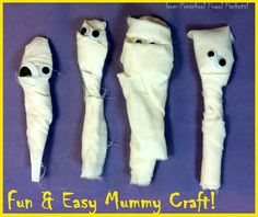 Super easy, and so much fun for kids! Goes great with ancient Egypt themes and Halloween! Mummy Preschool Craft from Preschool Powol Packets! (country crafts for kids) Ancient Egypt Activities, Ancient Egypt Crafts, Ancient Egypt For Kids, Egyptian Crafts, Ancient Egyptian Art, Egyptian Party, Ancient Aliens, Ancient Greece, Around The World Crafts For Kids