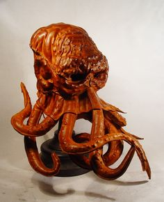 Bob Basset's Lair – Red Cthulhu. Art Leather mask.