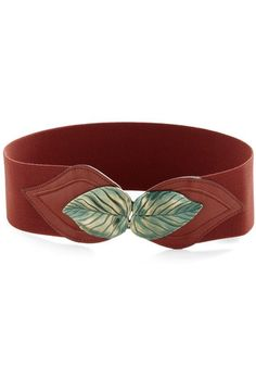 Can't Leaf It Be Belt in Brick, to compliment the heels and to represent the wooded scenery #ModCloth #skau