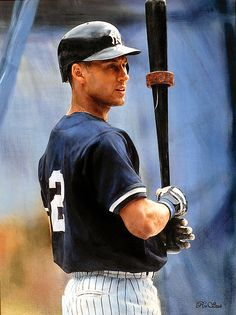 Portrait of Derek Jeter by artist Ron Stark