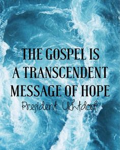 """""""The gospel is a transcendent message of hope, happiness, and joy. It is the pathway that leads us home."""" From #PresUchtdorf's http://pinterest.com/pin/24066179228856353 inspiring Oct. 2017 #LDSconf http://facebook.com/223271487682878 message http://lds.org/general-conference/2017/10/a-yearning-for-home #ShareGoodness"""