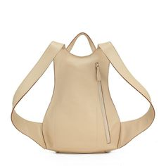 Special Shape Beige Calfskin Backpacks for Women (free shipping) no 4