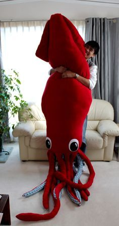 homemade giant squid stuffed animal - Google Search