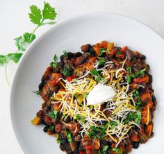 Vegetarian Black Bean & Sweet Potato Chili