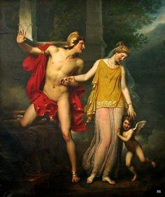 hadrian6: Anchise and Venus. 1822. Jean Baptiste Paulin Guerin. French 1783-1822. oil/canvas. http://hadrian6.tumblr.com
