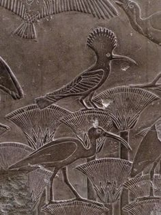 Frieze with lotus blossoms, ibis and hoopoe. Egyptian museum, Cairo http://www.sharm-club.com/egyptian-museum-of-antiquities