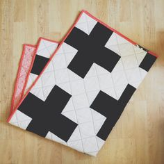 Black and White Plus Sign Quilt by taraphotographics on Etsy