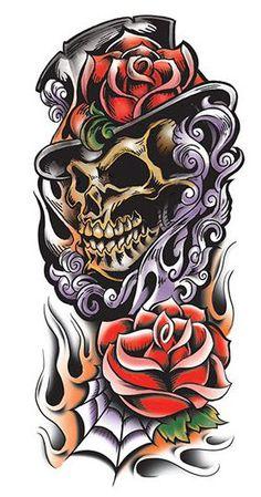 Manche Faucheuse Couleur Tattoo