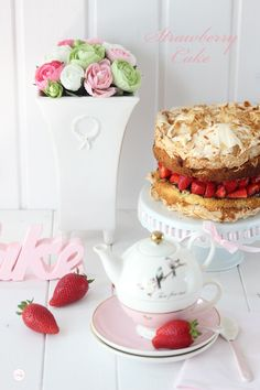 Lisbeths Cupcakes Erdbeer Baiser Schokoladen Törtchen