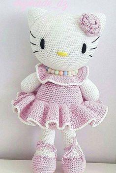 Mesmerizing Crochet an Amigurumi Rabbit Ideas. Lovely Crochet an Amigurumi Rabbit Ideas. Crochet Cat Toys, Crochet Unicorn, Crochet Doll Clothes, Crochet Bear, Crochet Patterns Amigurumi, Cute Crochet, Amigurumi Doll, Crochet Dolls, Hello Kitty Crochet
