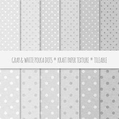 Gray Polka Dots Seamless Patterns. Patterns