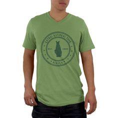 Katmai National Park Vintage Mens V-Neck T Shirt