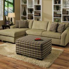 Simmons Upholstery Nimbus Celedon Sectional Sofa | Overstock.com Shopping - Big Discounts on Simmons Sectional Sofas