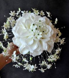 4 Knowing Cool Tips: Large Wedding Flowers Arrangements romantic wedding flowers floating candles.Wedding Flowers Hair Accessories wedding flowers gypsophila pew ends.Wedding Flowers Gypsophila Pew Ends. Bouquet Bride, Hydrangea Bouquet Wedding, Neutral Wedding Flowers, Romantic Wedding Flowers, Bright Wedding Flowers, Diy Wedding Bouquet, Rustic Wedding Flowers, Bridal Flowers, Floral Bouquets