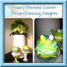Easter cupcakes with edible grass and eggs:) #eastercupcakes #cupcakeswithnest