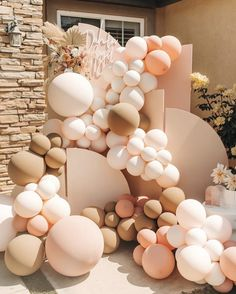 Baby Party, Baby Shower Parties, Baby Shower Themes, Baby Shower Decorations, Shower Ideas, 18th Birthday Party, Baby Birthday, Deco Ballon, Birthday Balloon Decorations