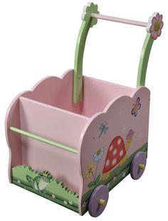 Teamson Children's Push Cart - Magic Garden - casa.com