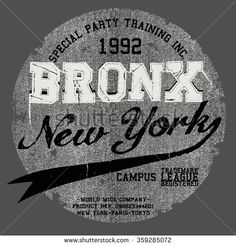 Bronx T Shirt Graphic Design Stok Vektör (Telifsiz) 359285072 Graphic Design Print, Graphic Prints, Graphic Tees, Typography Design, Logo Design, Lettering, Flora Vector, Denim T Shirt, Screen Printing Shirts