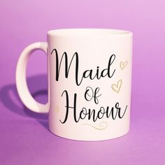 Trendy Gifts Bff Mugs Bff Gifts, Girl Gifts, Teacher Gifts, Maid Of Honour Gifts, Maid Of Honor, Wedding Mugs, Wedding Gifts, Special Day, Special Gifts