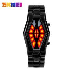 SKMEI Men's Watch Luxury Watches Men Relojes Black Stainless Steel Mens Cool Wristwatch relogio masculino Wristwatches