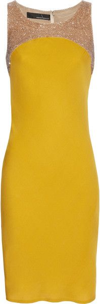 ...that yellow is scrumptious!! and its sparkly too! Amanda Wakeley Beadembellished Silkcrepe Dress