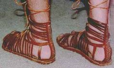These heavy sandals are the classic Roman army boot